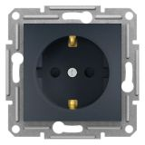 Single socket outlet, 16A, anthracite, schuko, EPH2900271