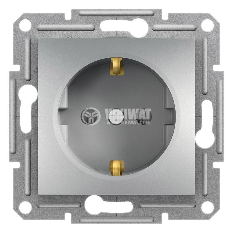 Електрически контакт, 16A, единичен, алуминий, шуко, EPH2900261