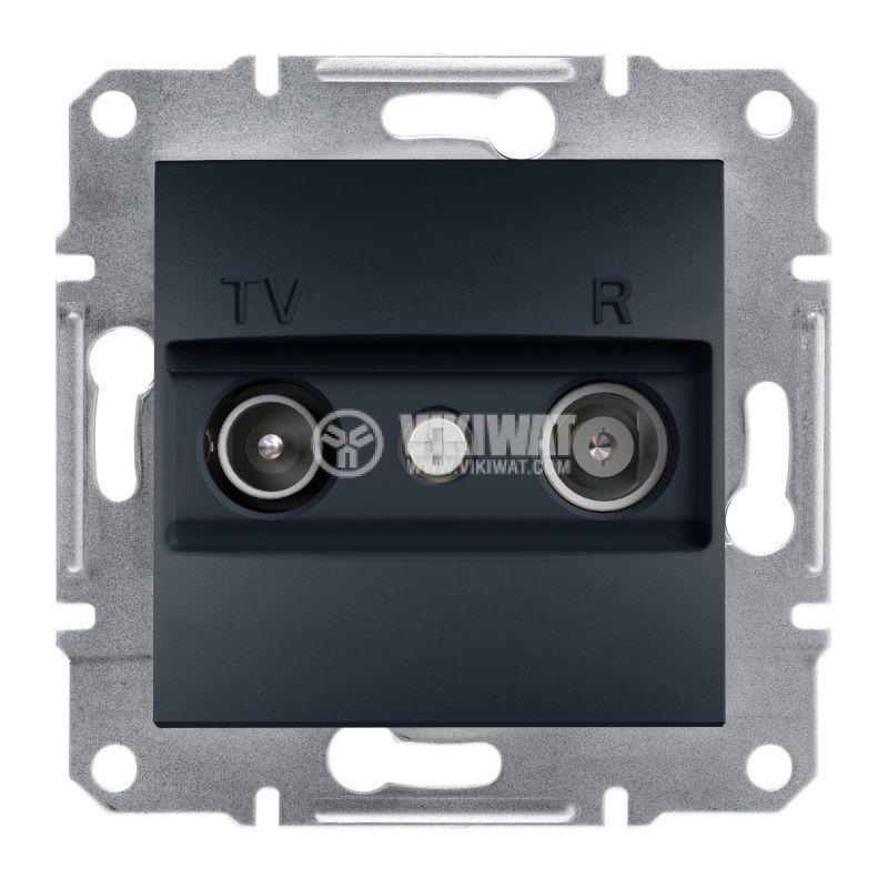 Розетка двойна, TV, радио, цвят антрацит, EPH3300271