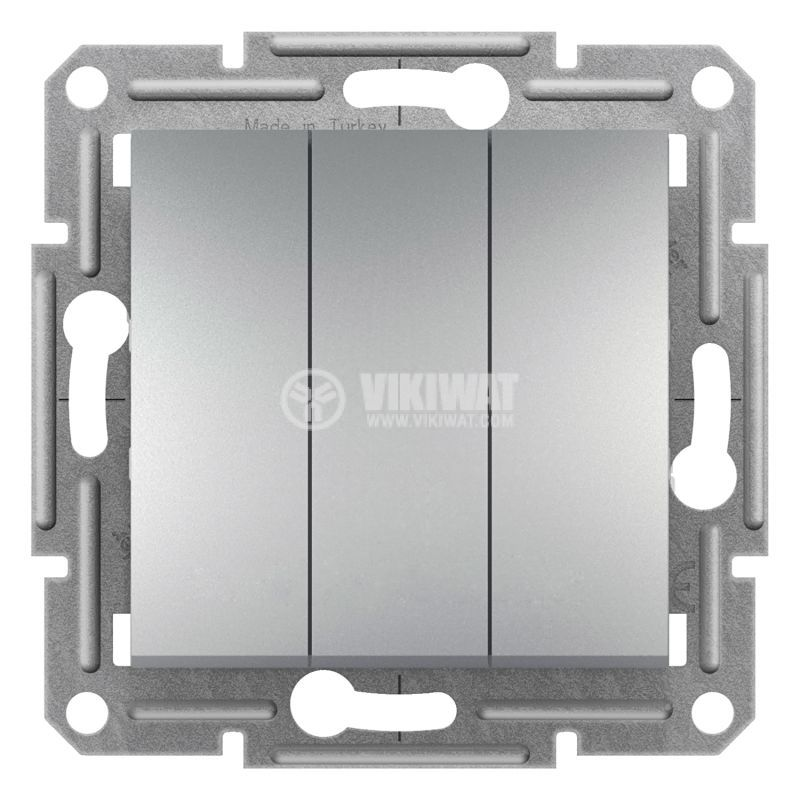 Електрически ключ сх.1 троен, 10A, алуминий, EPH2100161