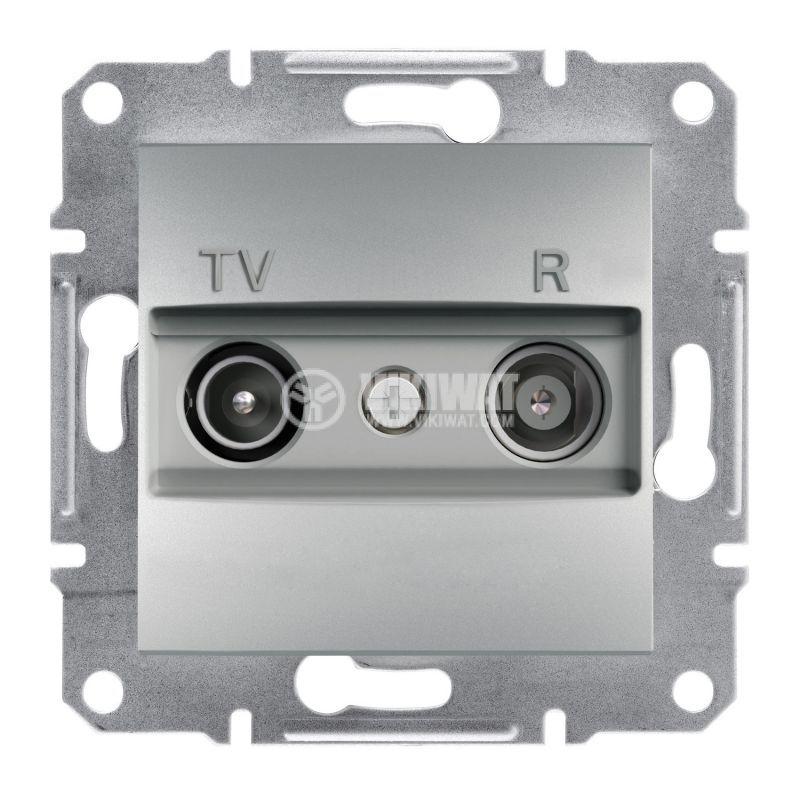 Розетка двойна, TV, радио, цвят алуминий, EPH3300161