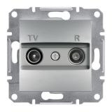 Розетка двойна, TV, радио, цвят алуминий, EPH3300261