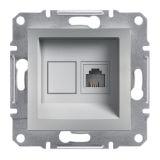 Розетка единична, RJ11, цвят алуминий, EPH4100161
