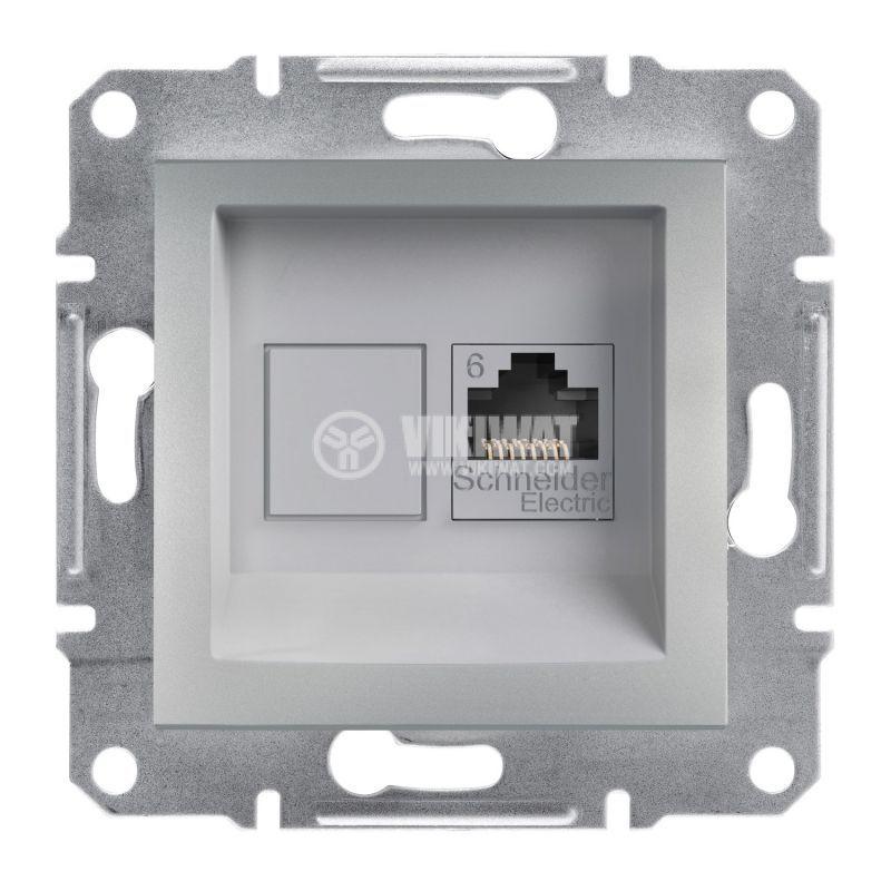 Single, RJ45(8p8c) socket, aluminium color, EPH4700161