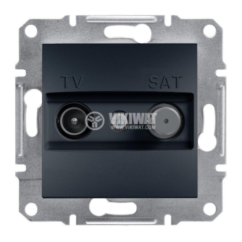 Розетка двойна, TV, SAT, цвят антрацит, EPH3400171