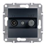 Розетка двойна, TV, SAT, цвят антрацит, EPH3400471