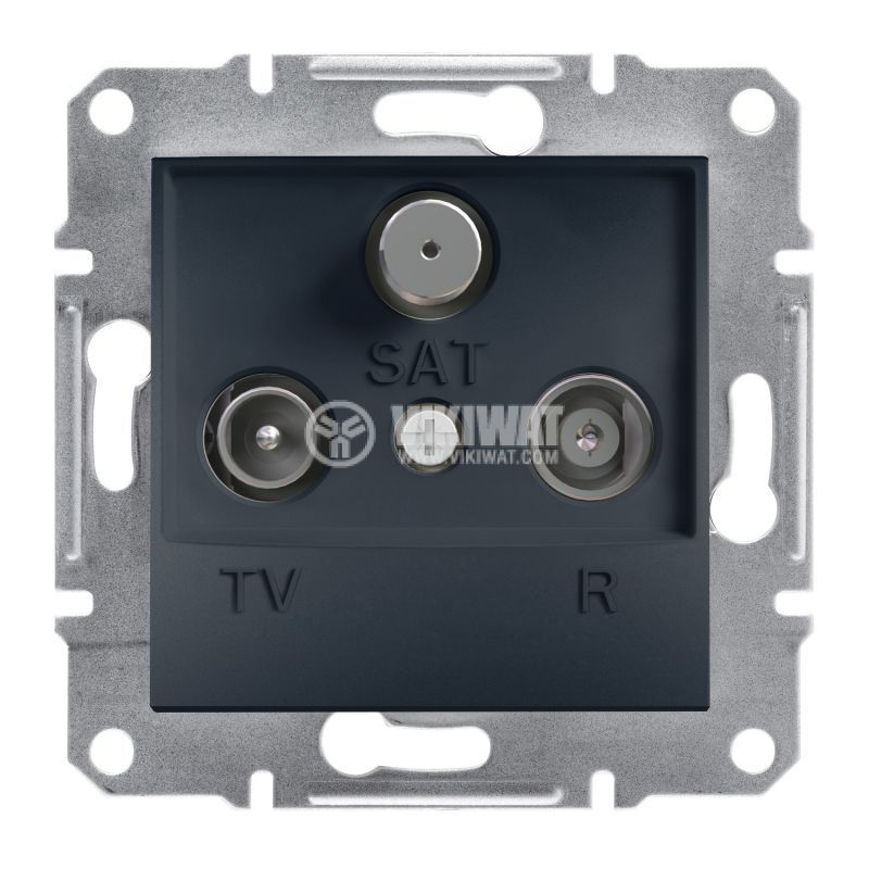 Розетка тройна, TV, SAT, цвят антрацит, EPH3500171