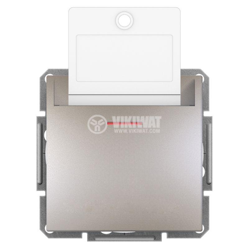Електрически ключ за карта, 10A, бронз, EPH6200169