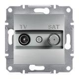Розетка двойна, TV, SAT, цвят алуминий, EPH3400461