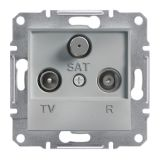 Розетка тройна, TV, SAT, цвят алуминий, EPH3500161