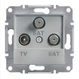 Розетка тройна, TV, SAT, цвят алуминий, EPH3600161