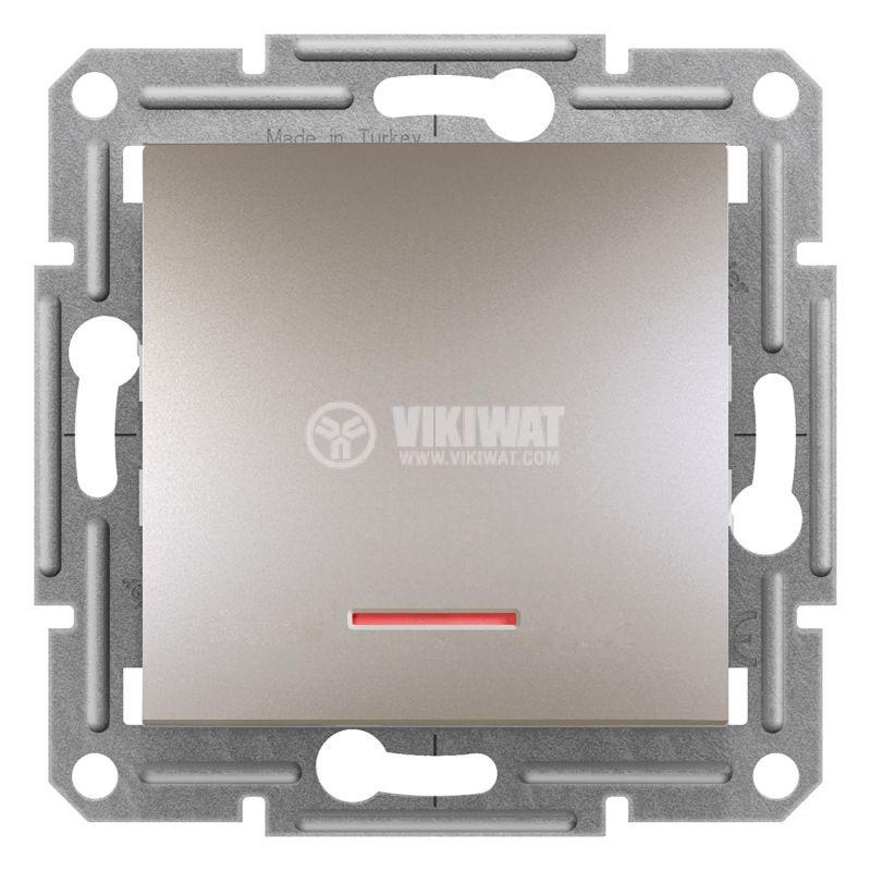 Електрически ключ сх.1 единичен, 10A, бронз, EPH1430369