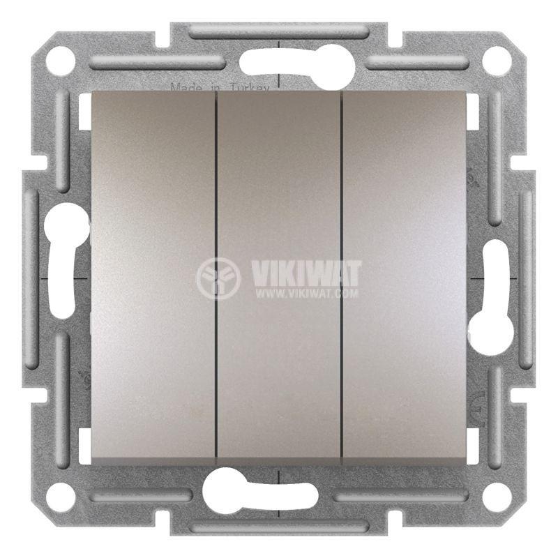 Електрически ключ сх.1 троен, 10A, бронз, EPH2100169