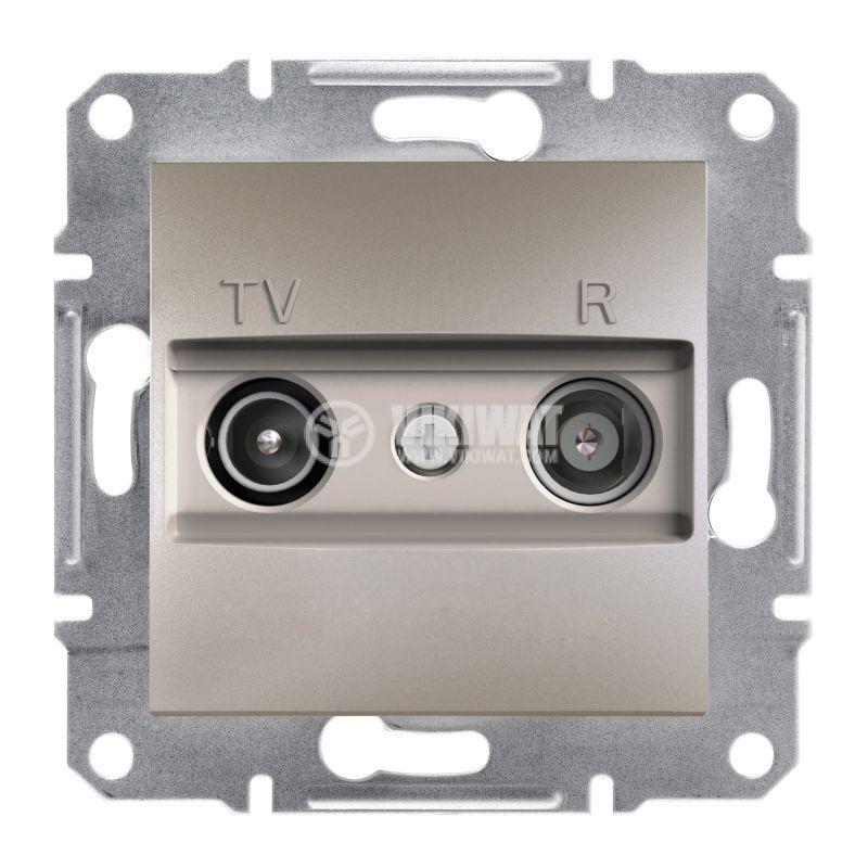 Розетка двойна, TV, радио, цвят бронз, EPH3300169