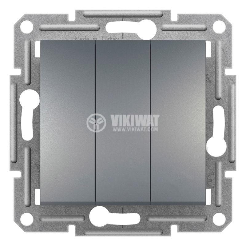 Електрически ключ сх.1 троен, 10A, стомана, EPH2100162