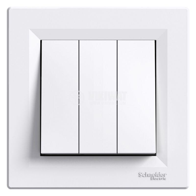 Електрически ключ сх.1 троен, 10A, бял, EPH2100121