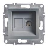 Розетка единична, RJ11, цвят стомана, EPH4100162