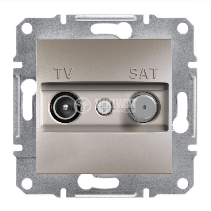 Розетка двойна, TV, SAT, цвят бронз, EPH3400169