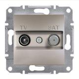 Розетка двойна, TV, SAT, цвят бронз, EPH3400469