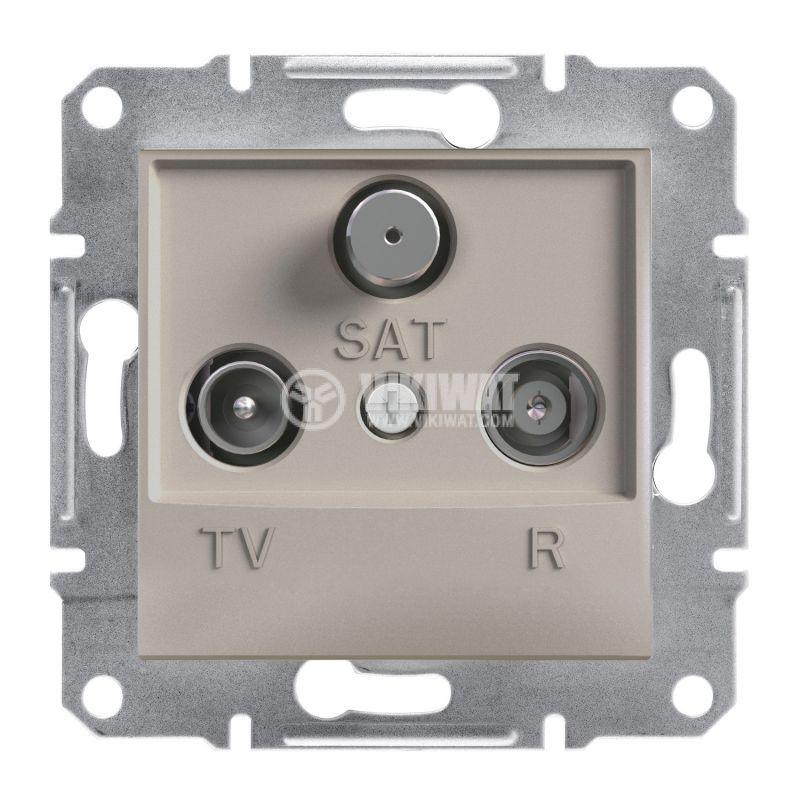 Розетка тройна, TV, SAT, цвят бронз, EPH3500169