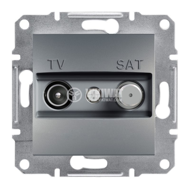 Розетка двойна, TV, SAT, цвят стомана, EPH3400162
