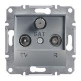 Розетка тройна, TV, SAT, цвят стомана, EPH3500162