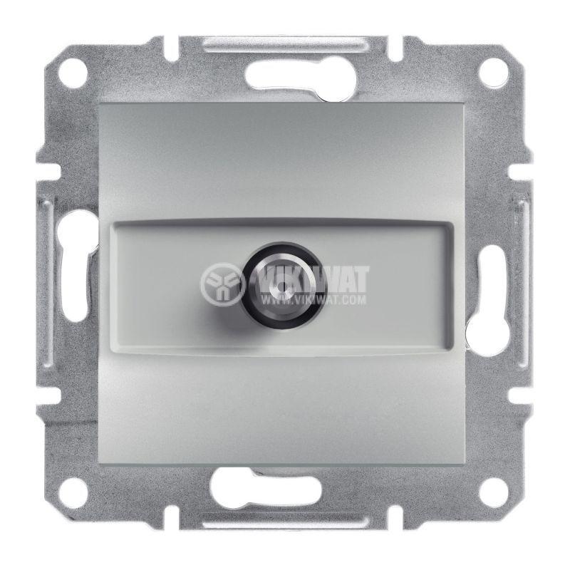 Розетка единична, SAT, цвят алуминий, EPH3700161