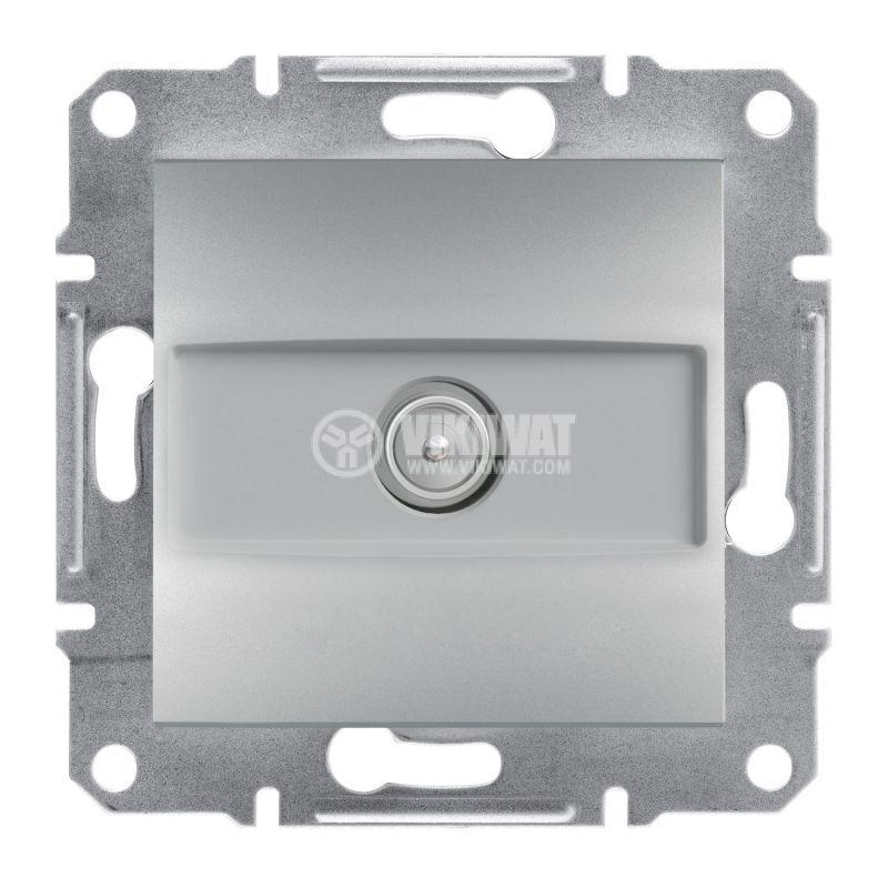 Розетка единична, TV, цвят алуминий, EPH3200161