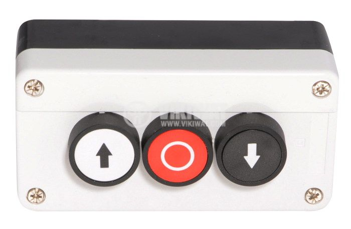 Triple Push Button, B311H29, 240VAC, 6A, SPST-NO + NC + NO - 2