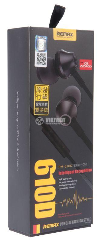 Headphones RM-610D, jack 3.5 mm - 3