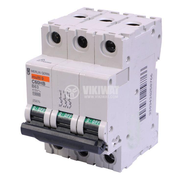 Circuit breaker 1x63A C60HB multi9 DIN rail curve B - 1