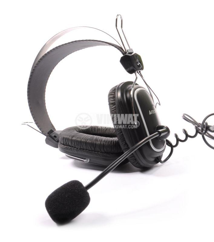Стерео слушалки с микрофон A4TECH HS-50, жак 3.5mm - 1