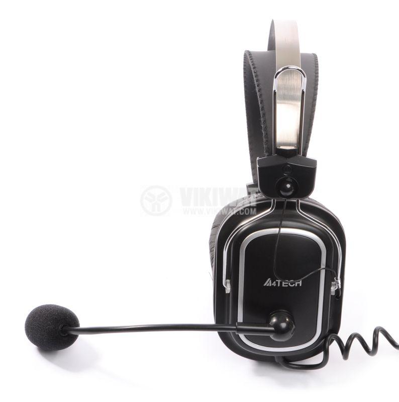 Стерео слушалки с микрофон A4TECH HS-50, жак 3.5mm - 2