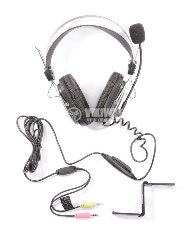Стерео слушалки с микрофон A4TECH HS-50, жак 3.5mm - 3