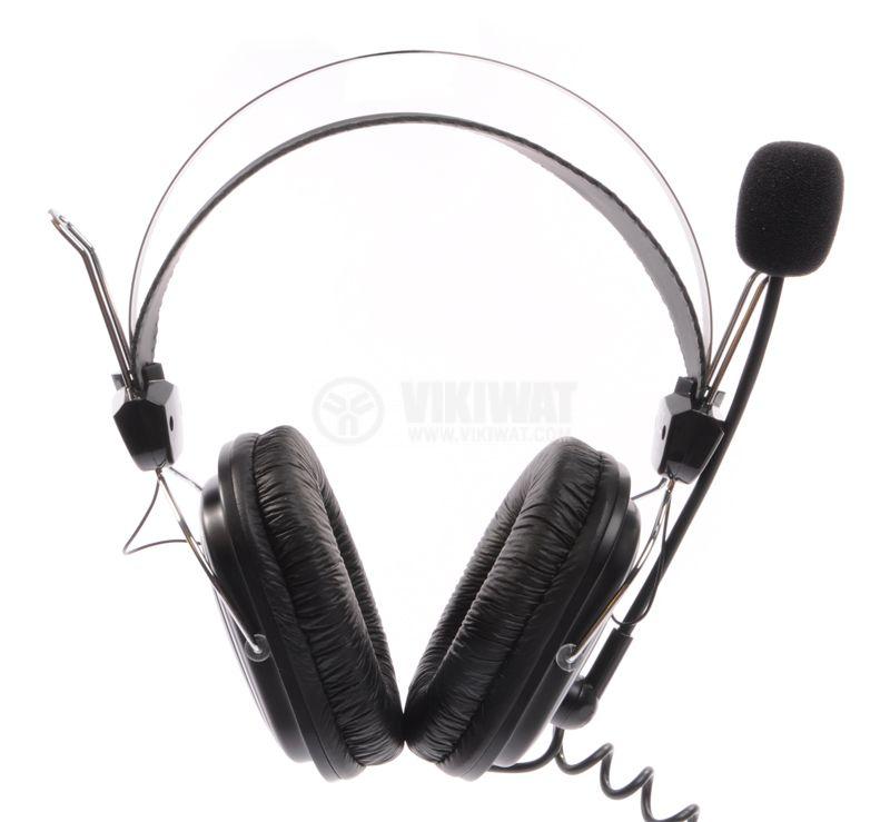 Стерео слушалки с микрофон A4TECH HS-50, жак 3.5mm - 7