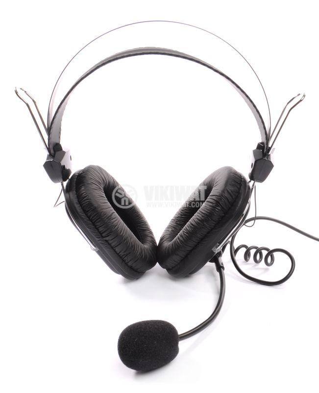 Стерео слушалки с микрофон A4TECH HS-50, жак 3.5mm - 8
