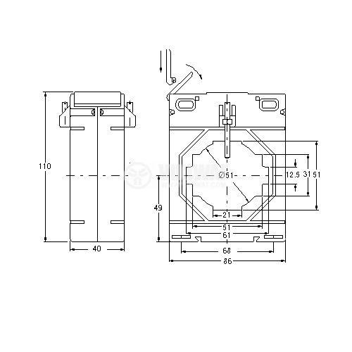 Токов трансформатор 600/5, 5А, 660VAC, MAK 86/60 - 4