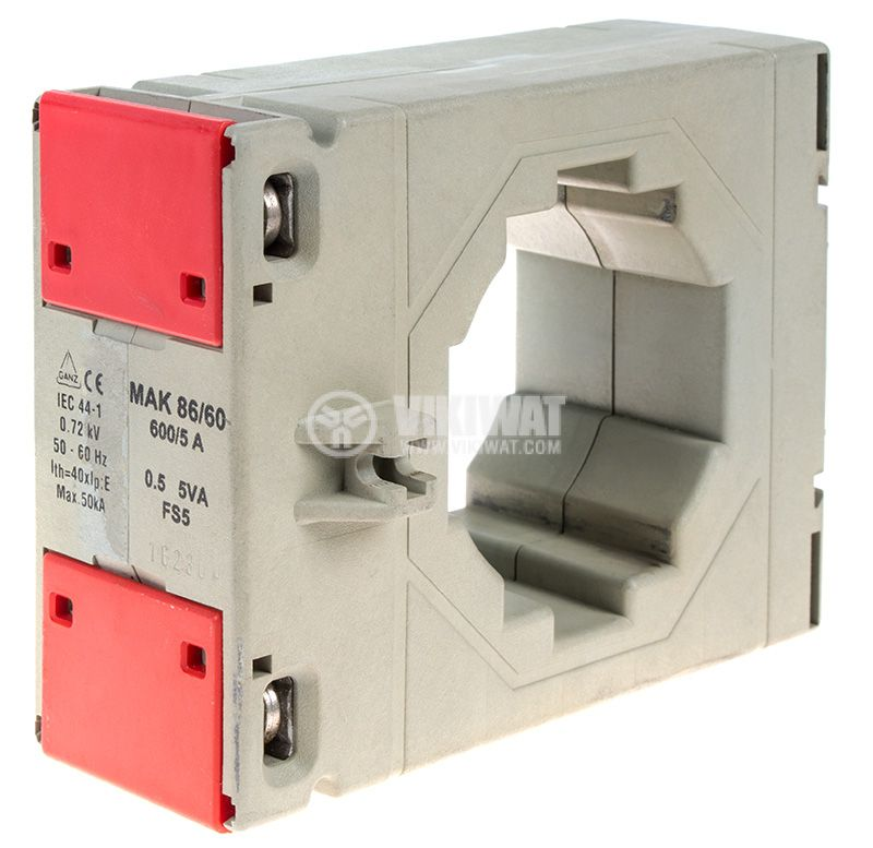 Токов трансформатор 600/5, 5А, 660VAC, MAK 86/60 - 1