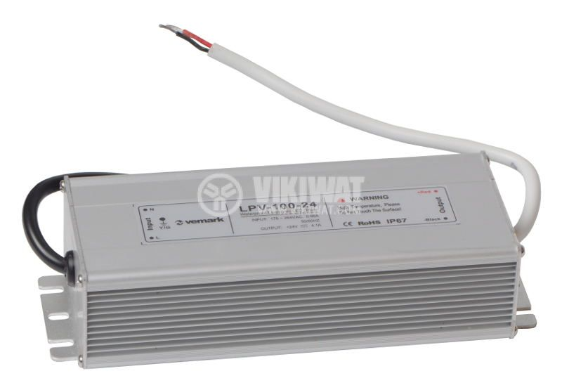 LED switching power supply LPV-100-24, 24VDC, 4.1A, 100W, IP67