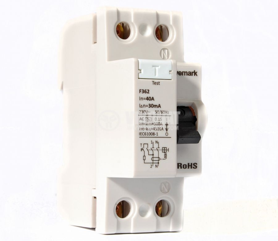 Residual Current Circuit Breaker F362 230VAC 40А 30mА - 1