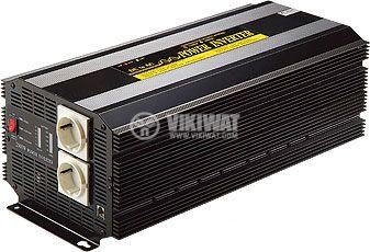 Инвертор, A301-4000-24, 24VDC - 220VAC, 4000W