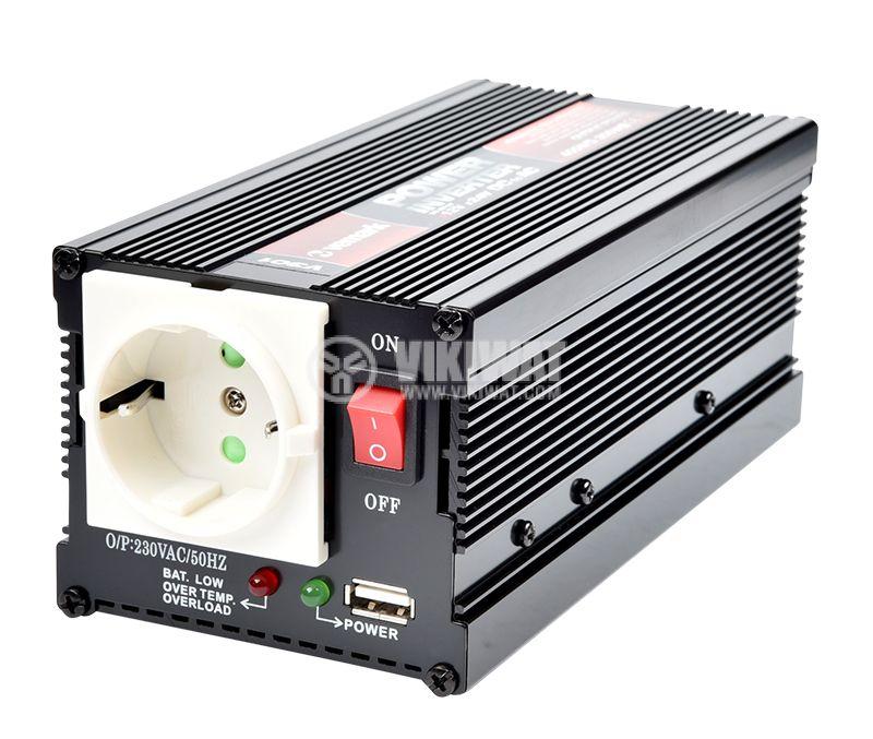Инвертор V301-400W-12V, 12VDC - 220VAC, 400W, модифицирана синусоида, с USB - 1