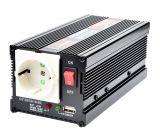 Инвертор V301-400W-12V, 12VDC - 220VAC, 400W, модифицирана синусоида, с USB