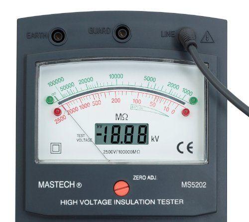 Tестер на изолационно съпротивление MS5202, 2500Vdc, 100 000Mohms - 2