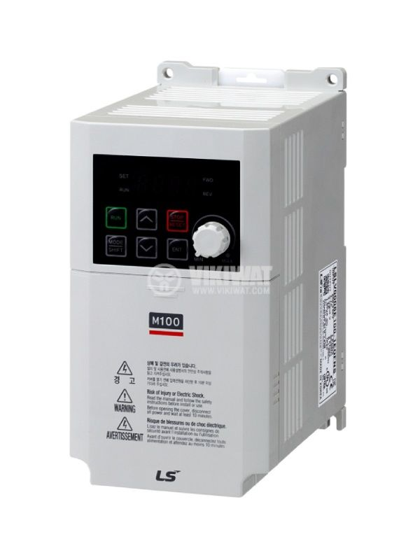 Frequency inverter LSLV0008M100-1EOFNS, 230VAC, three-phase motor control 0.75kW - 1