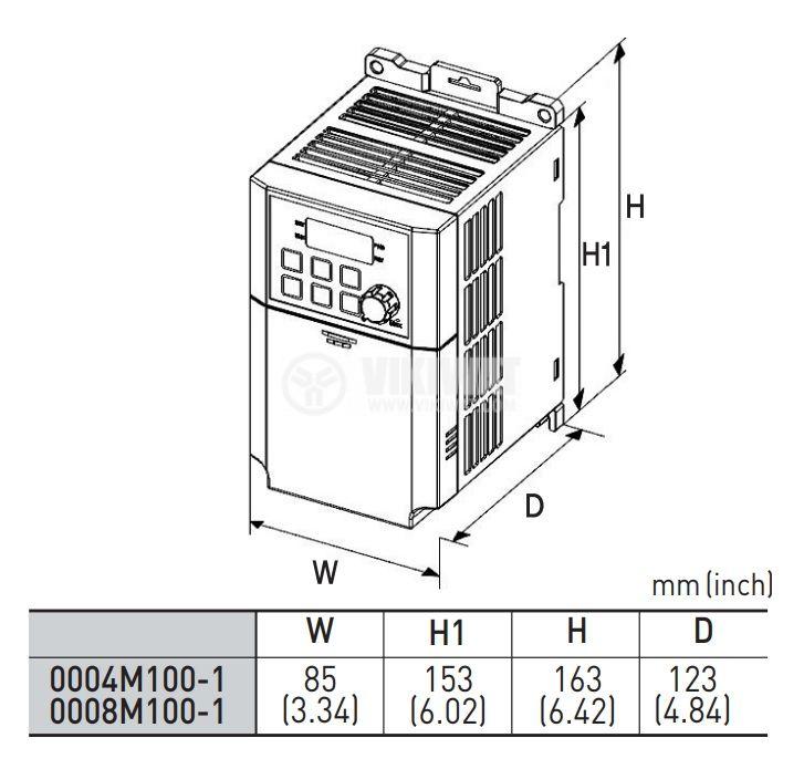 Frequency inverter LSLV0008M100-1EOFNS - 3