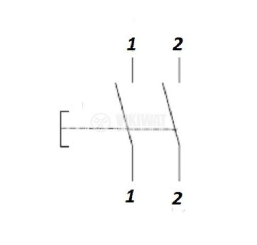 Power hand tools switch FA5-20/2B, 12 A, 250 VAC, 2NO - 4