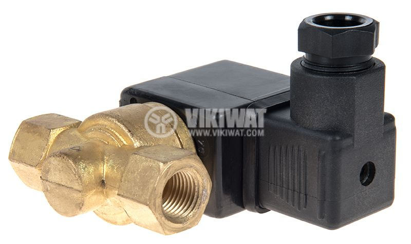 Two-way Solenoid Valve, G 7/16, 0.3 MPa, 24 VDC