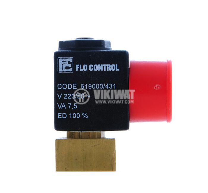"Електромагнитен вентил, FLO CONTROL 619000/471, еднопътен, G 5/32"", 1 MPa, бобина 24 VDC - 4"