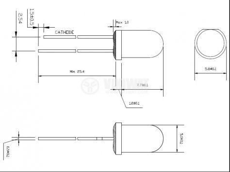 Светодиод мигащ  5XRGB-F2-F тип - RGB - 2